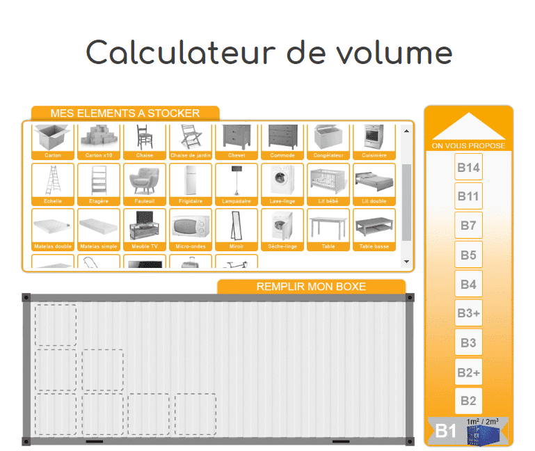 Calculateur de volume